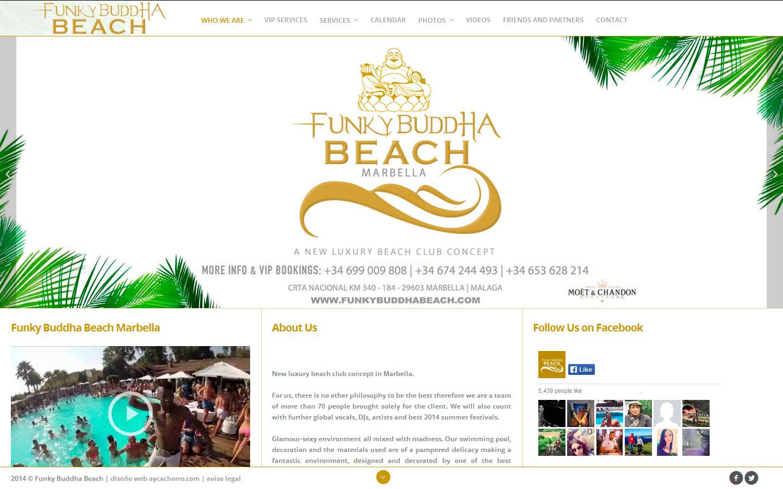 Funky Buddha Beach Club Marbella