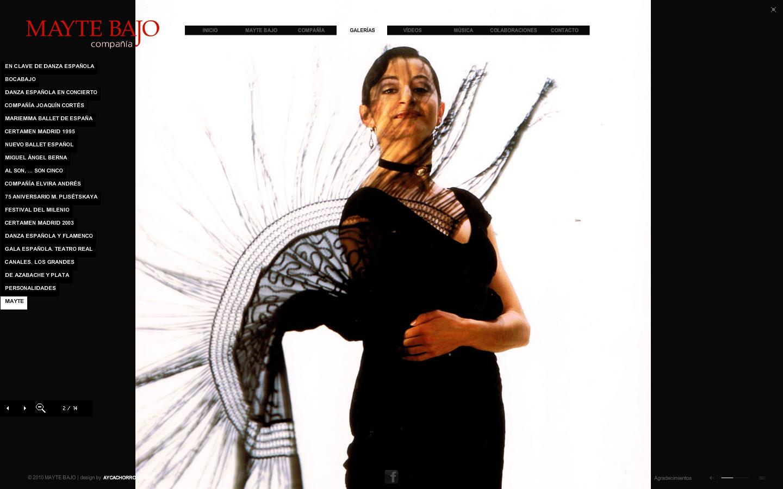 Mayte Bajo bailarina